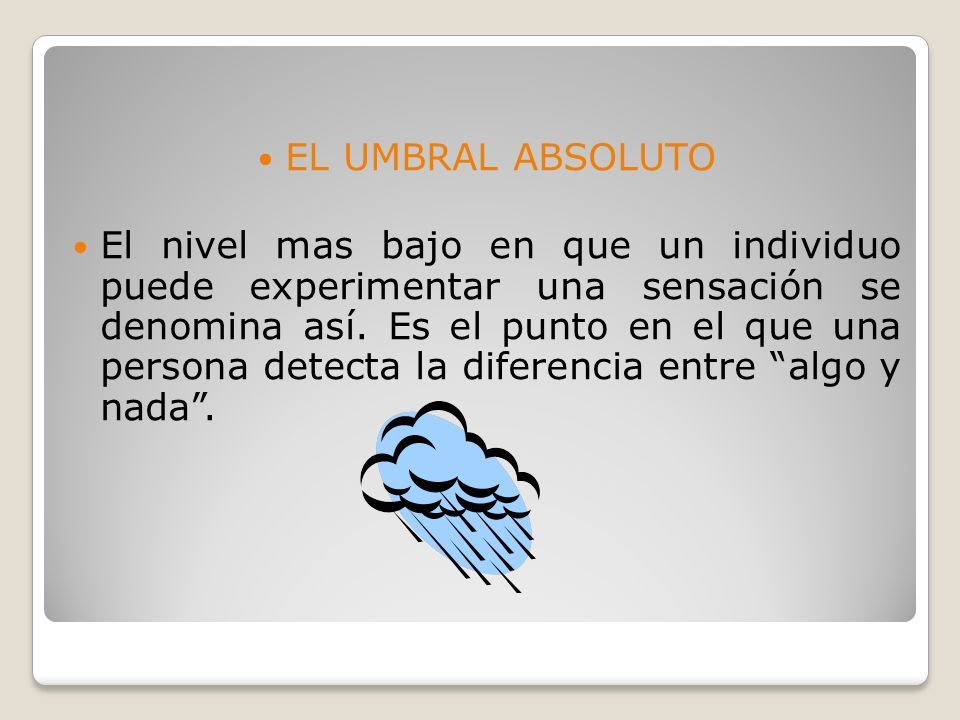 EL UMBRAL ABSOLUTO