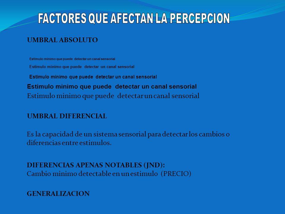FACTORES QUE AFECTAN LA PERCEPCION