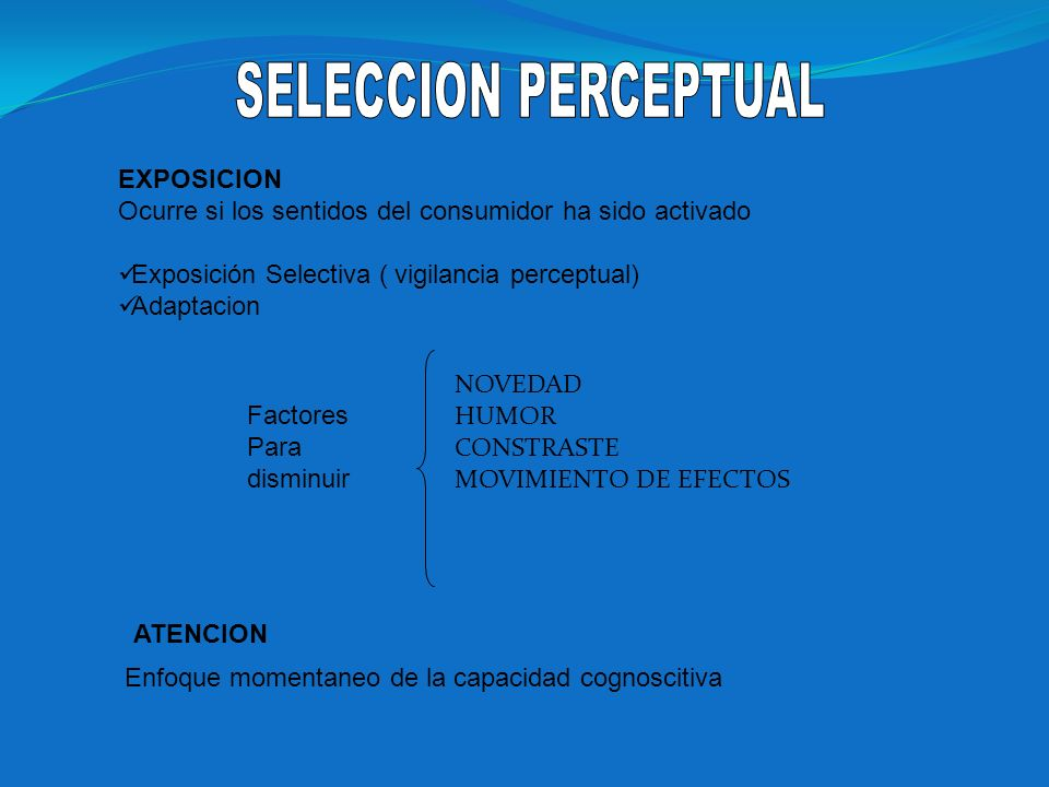 SELECCION PERCEPTUAL EXPOSICION