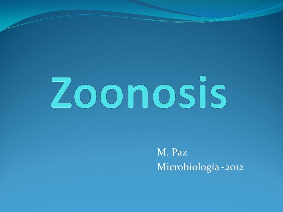 Zoonosis M. Paz Microbiología -2012