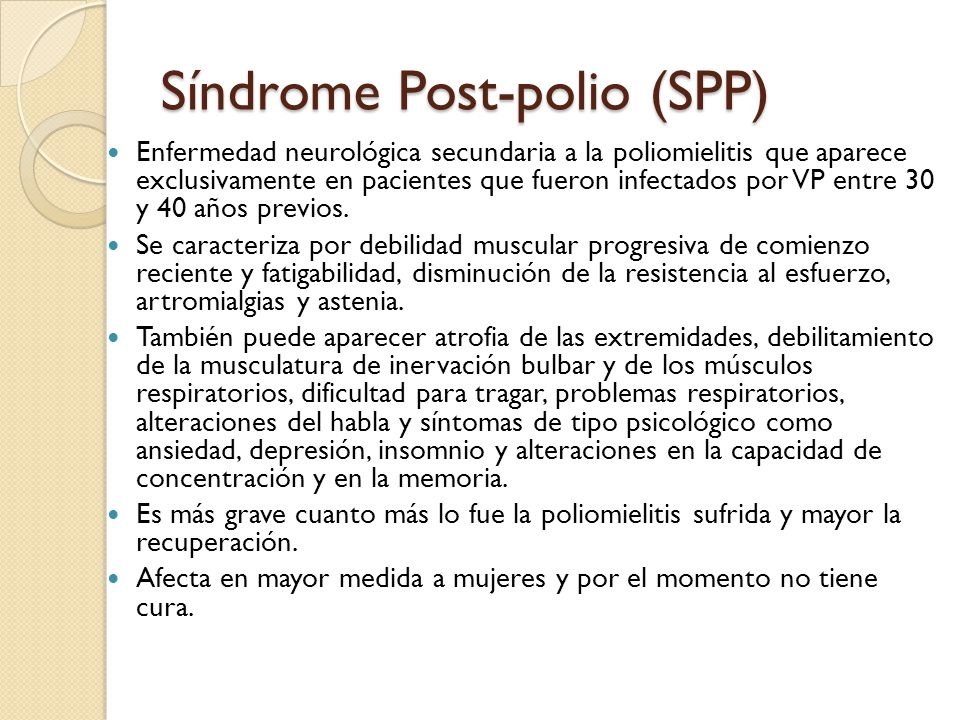 Síndrome Post-polio (SPP)