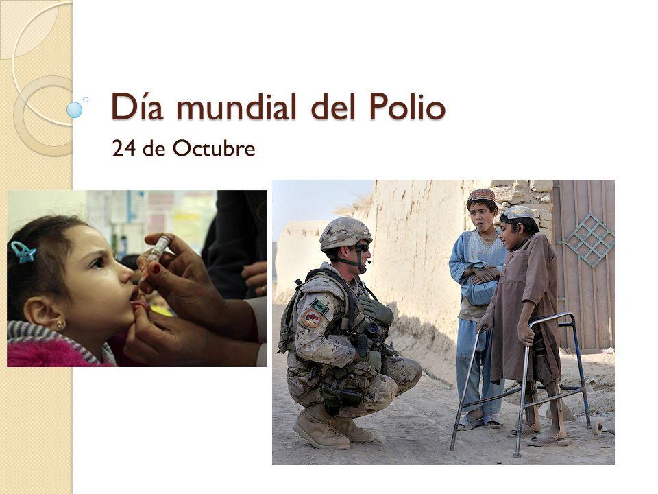Día mundial del Polio 24 de Octubre