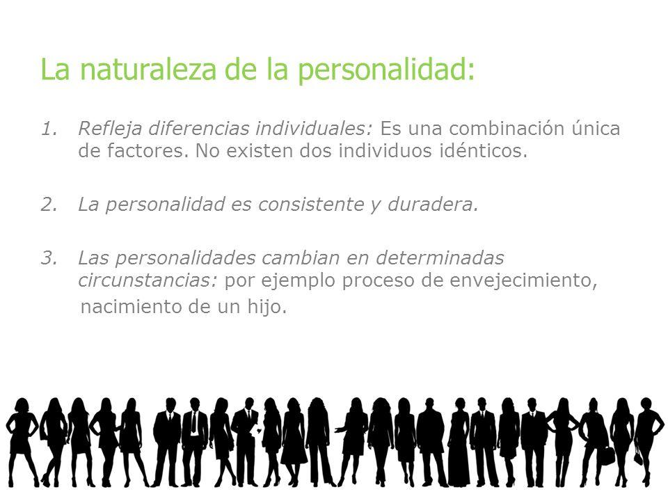 La naturaleza de la personalidad: