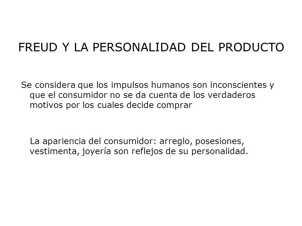 FREUD Y LA PERSONALIDAD DEL PRODUCTO