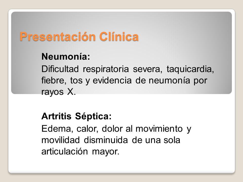 Presentación Clínica Neumonía: