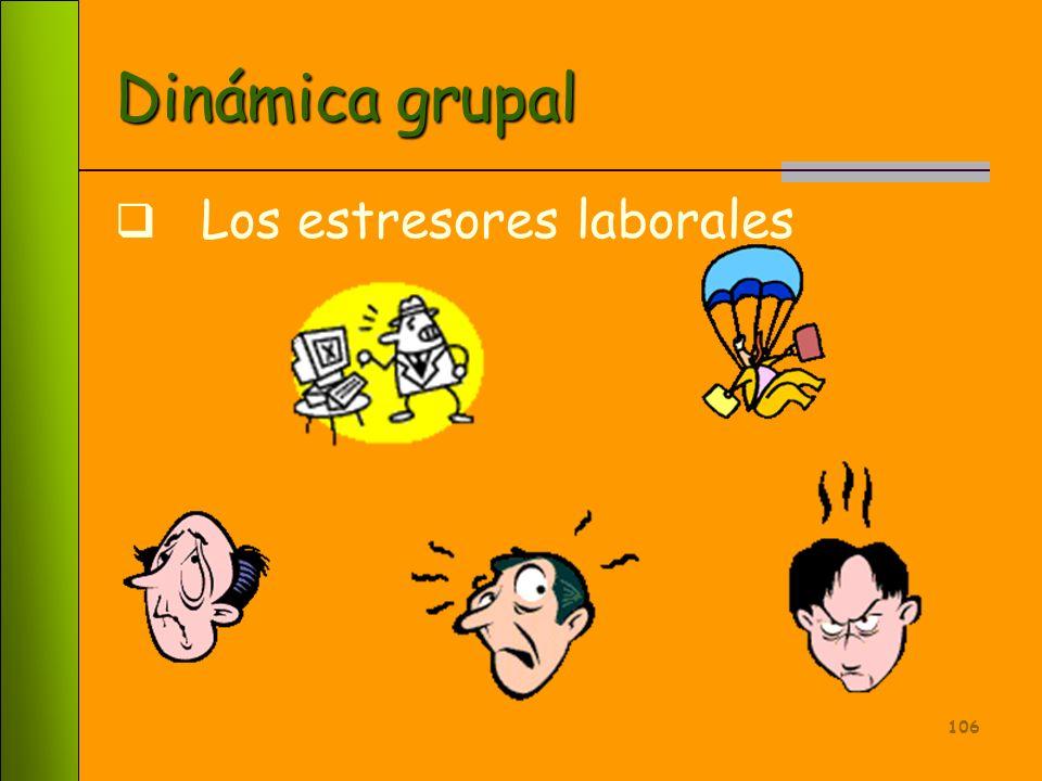 Dinámica grupal Los estresores laborales