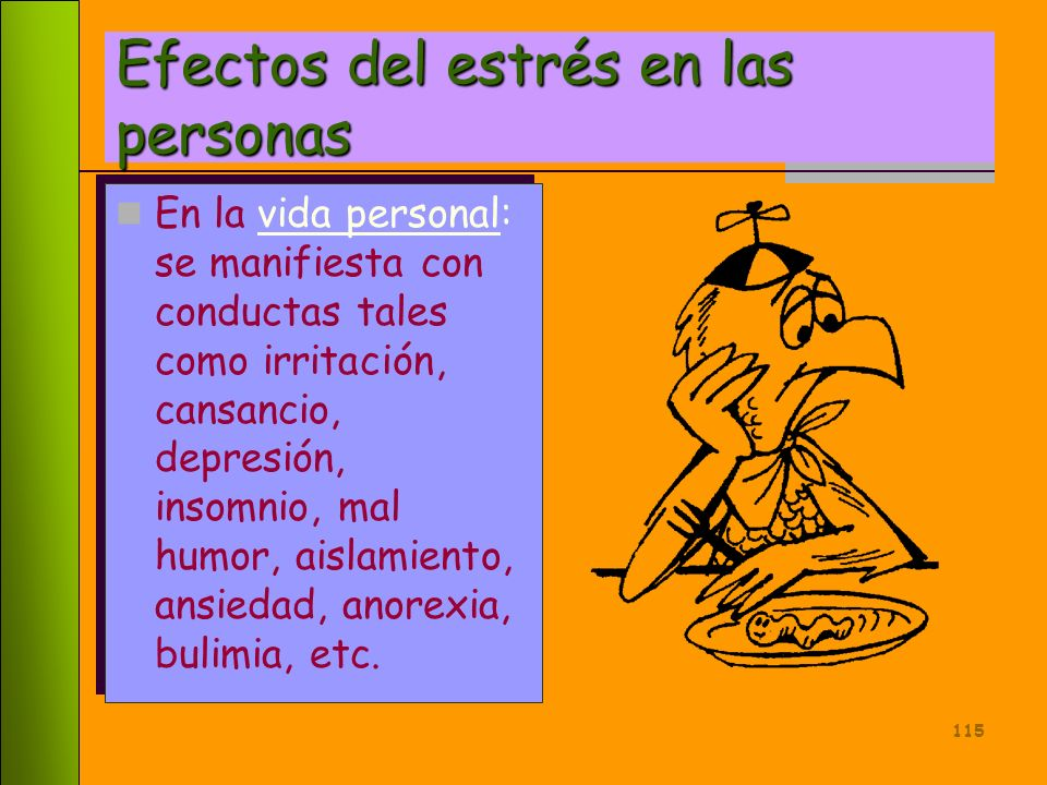 Efectos del estrés en las personas