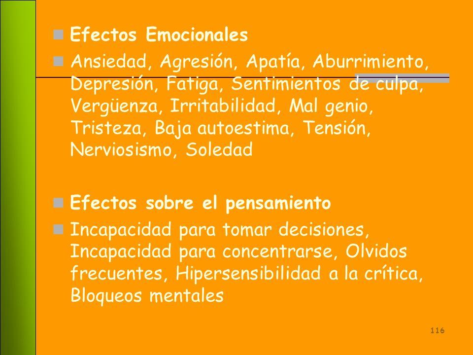 Efectos Emocionales