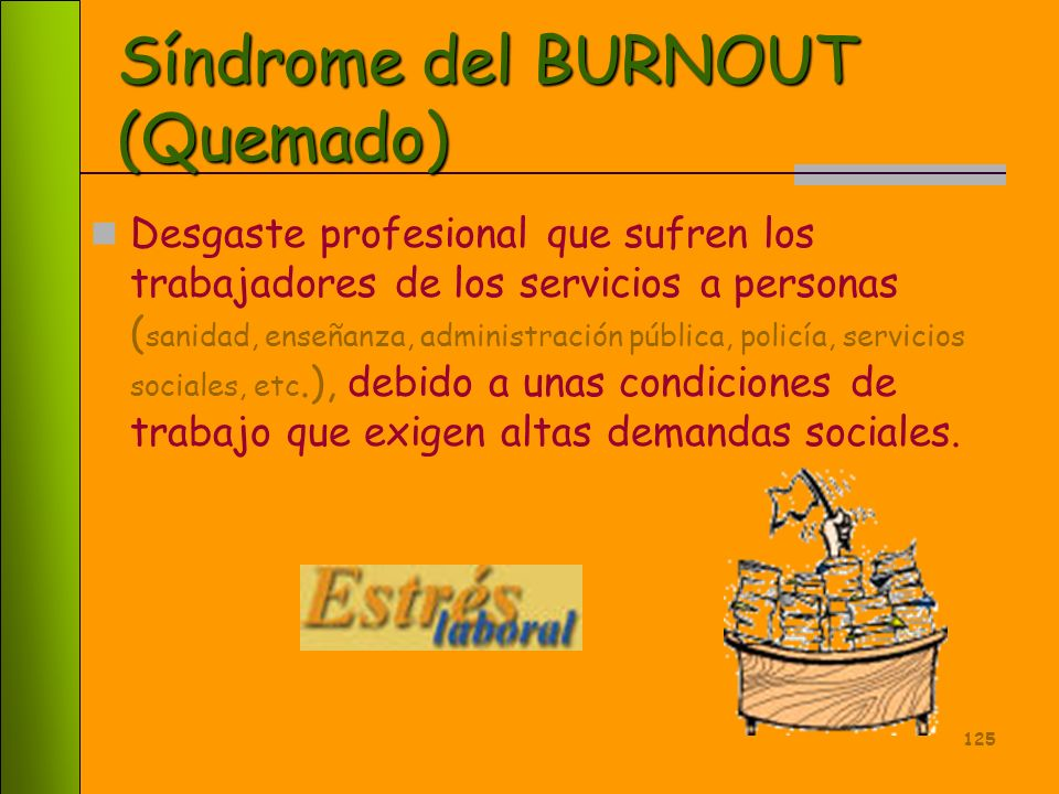 Síndrome del BURNOUT (Quemado)