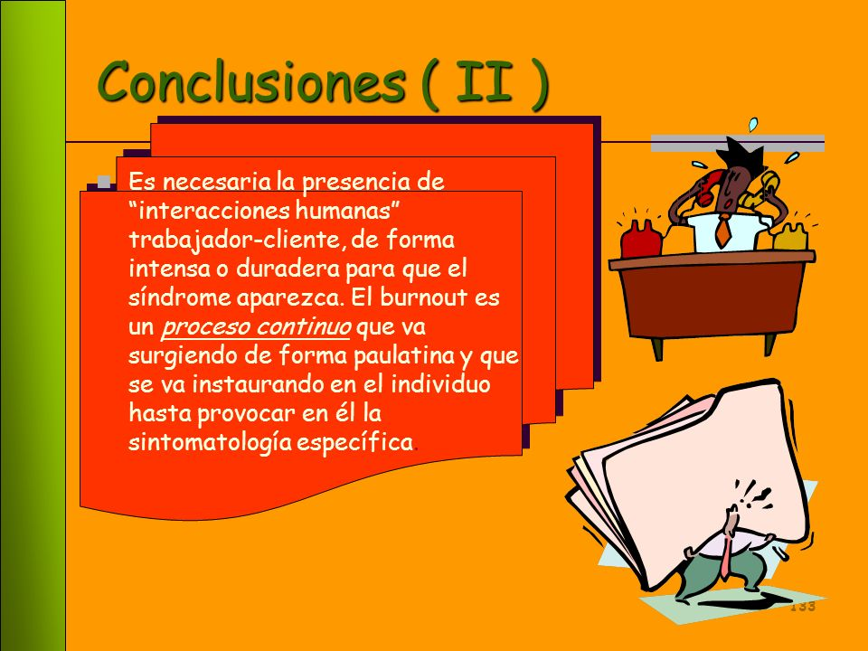 Conclusiones ( II )