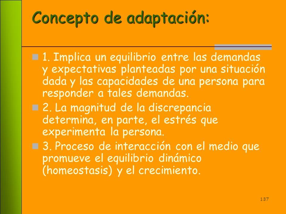 Concepto de adaptación:
