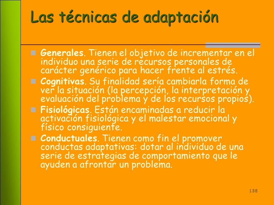 Las técnicas de adaptación