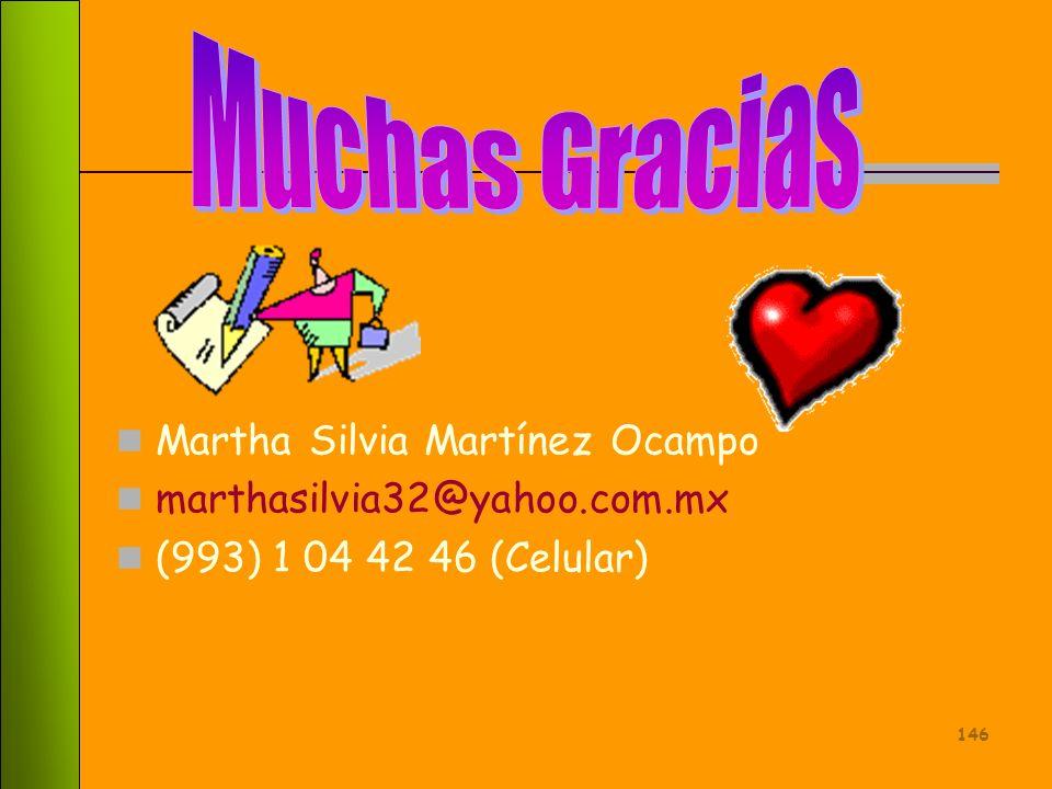 Muchas Gracias Martha Silvia Martínez Ocampo