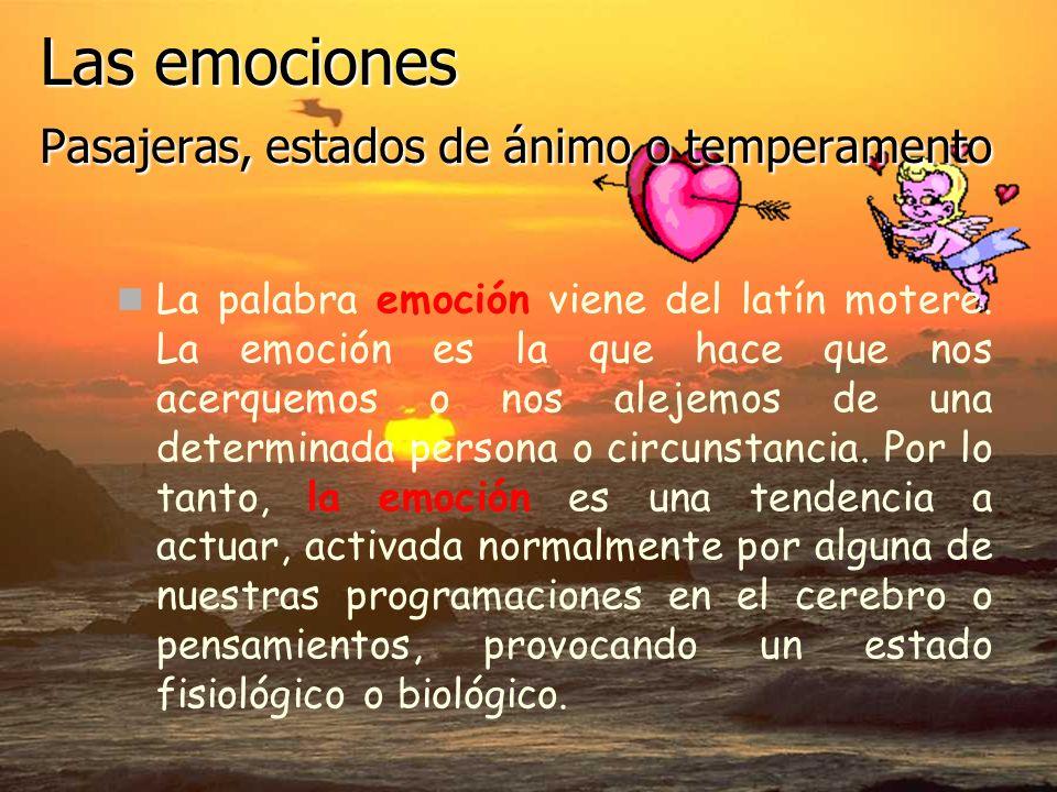 Las emociones Pasajeras, estados de ánimo o temperamento