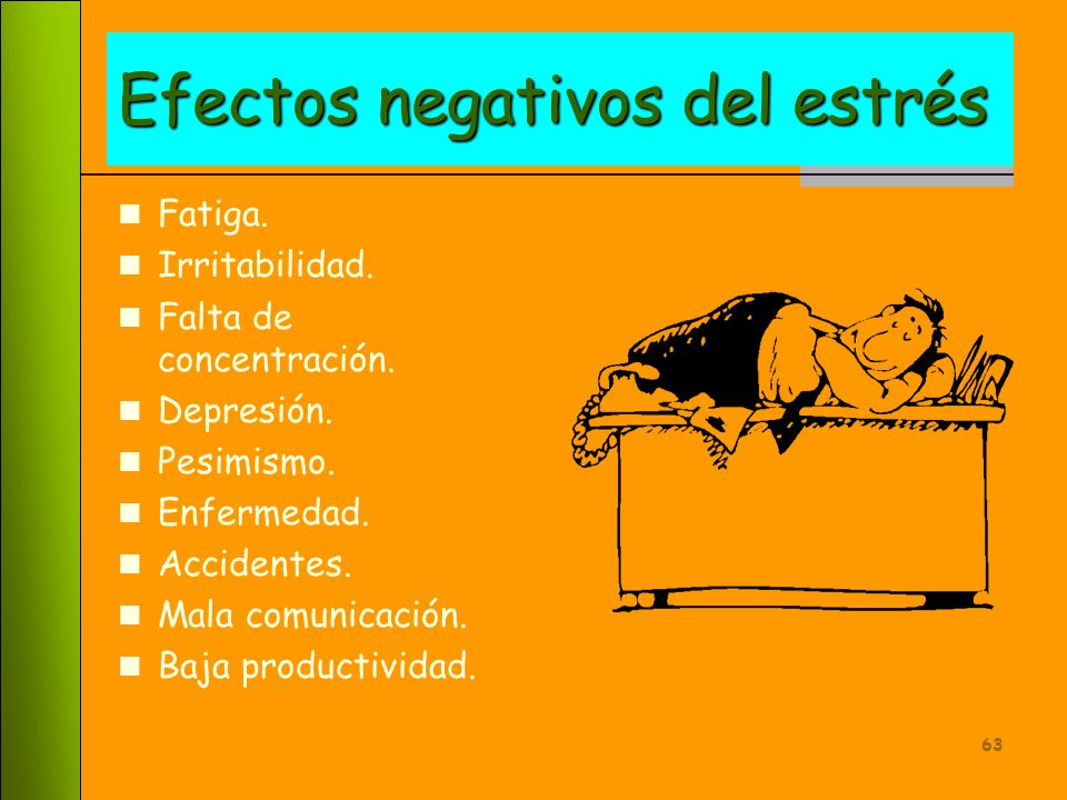 Efectos negativos del estrés