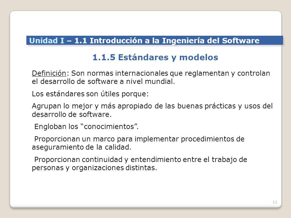 Unidad I – 1.1 Introducción a la Ingeniería del Software