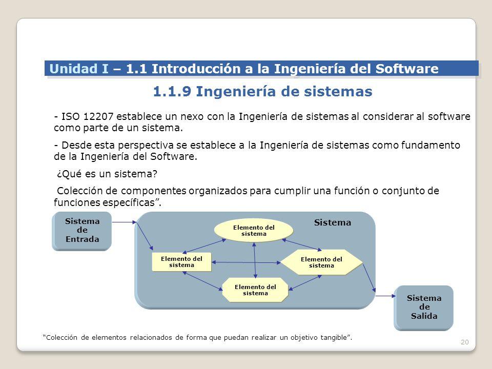 1.1.9 Ingeniería de sistemas