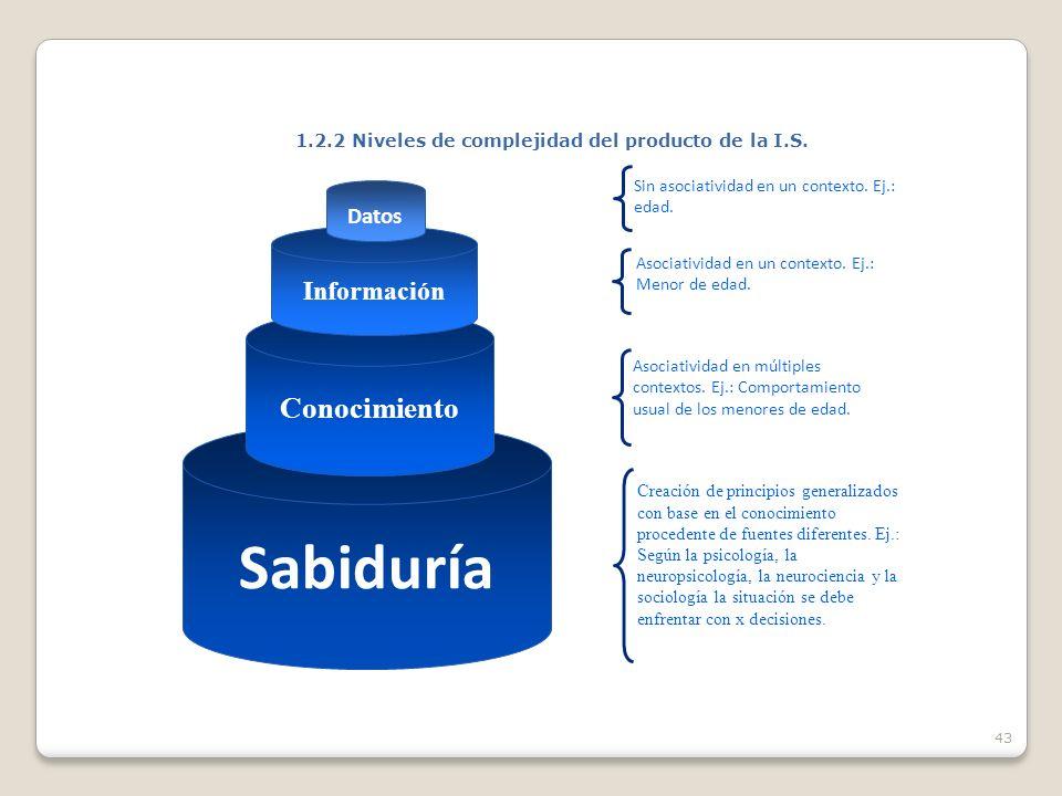 1.2.2 Niveles de complejidad del producto de la I.S.