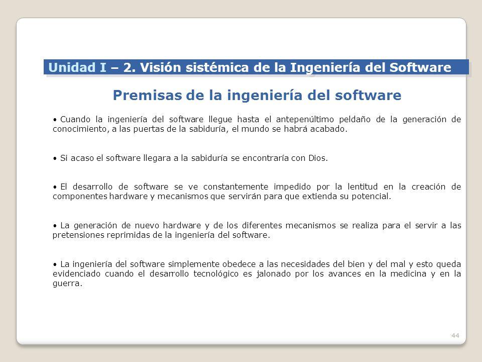Premisas de la ingeniería del software