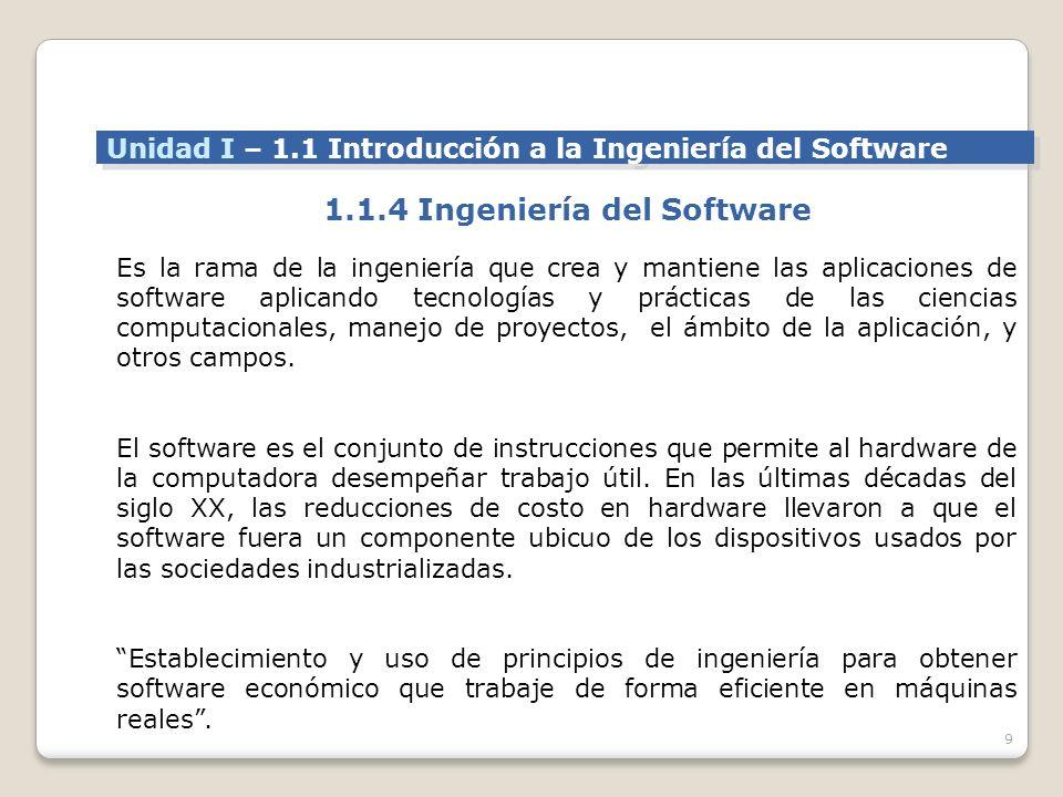 1.1.4 Ingeniería del Software