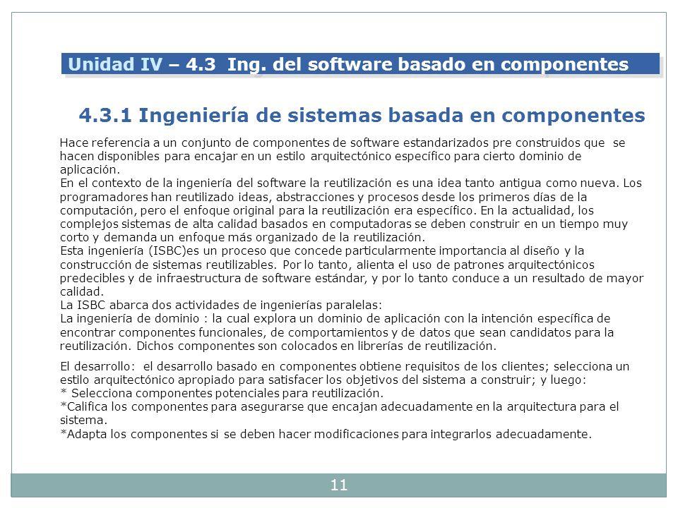 4.3.1 Ingeniería de sistemas basada en componentes