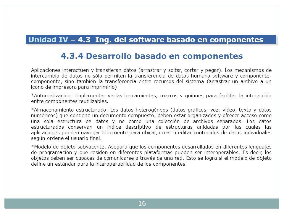 4.3.4 Desarrollo basado en componentes