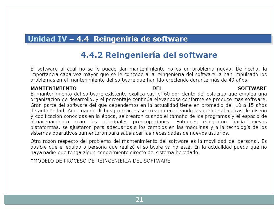 4.4.2 Reingeniería del software