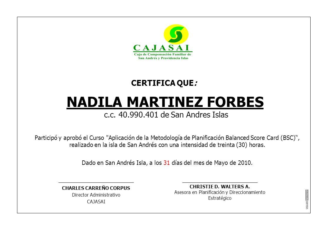 NADILA MARTINEZ FORBES CHARLES CARREÑO CORPUS