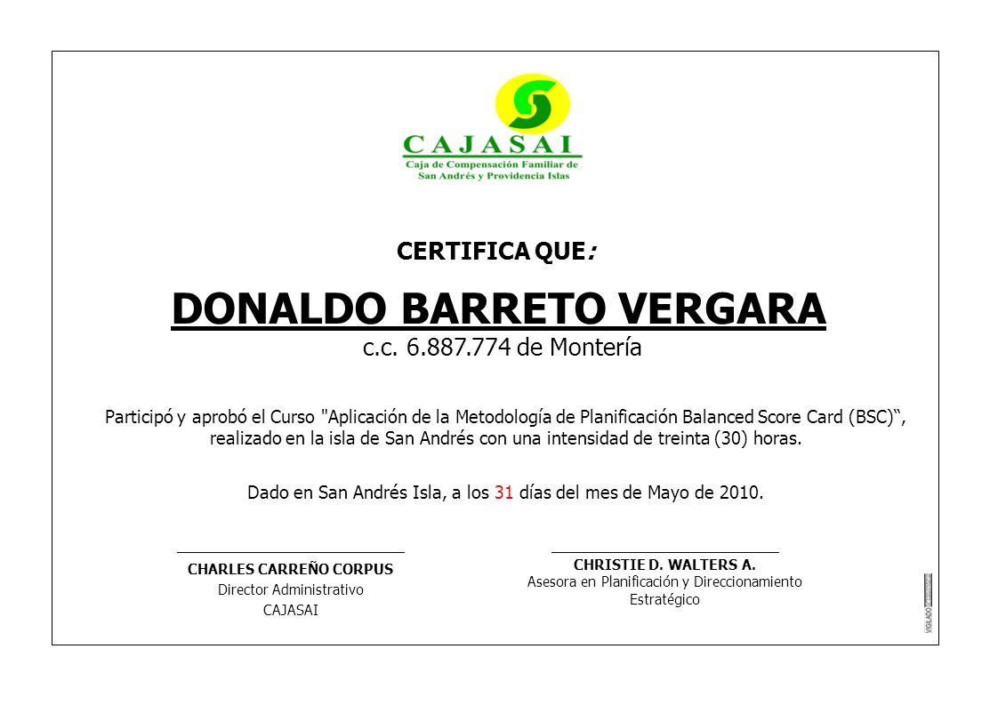 DONALDO BARRETO VERGARA CHARLES CARREÑO CORPUS