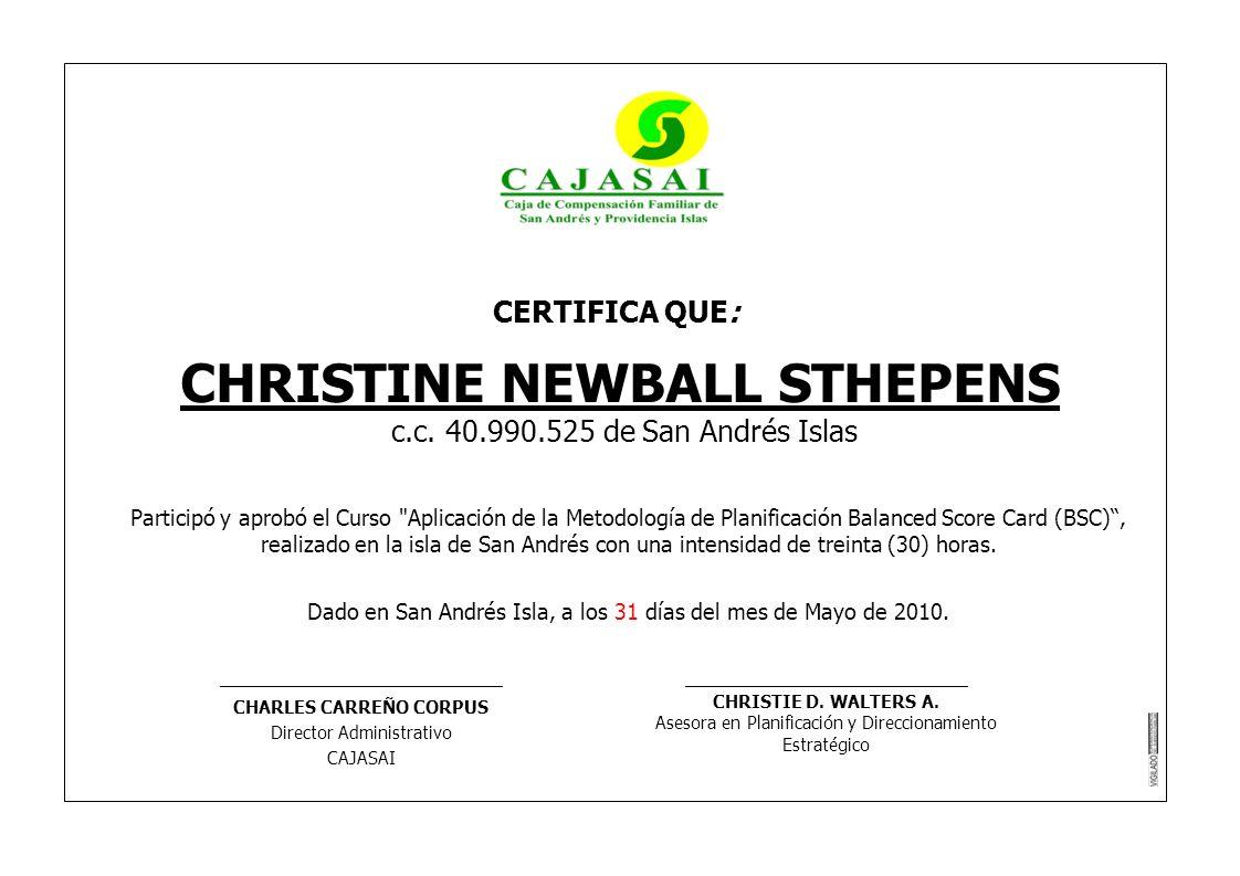 CHRISTINE NEWBALL STHEPENS CHARLES CARREÑO CORPUS