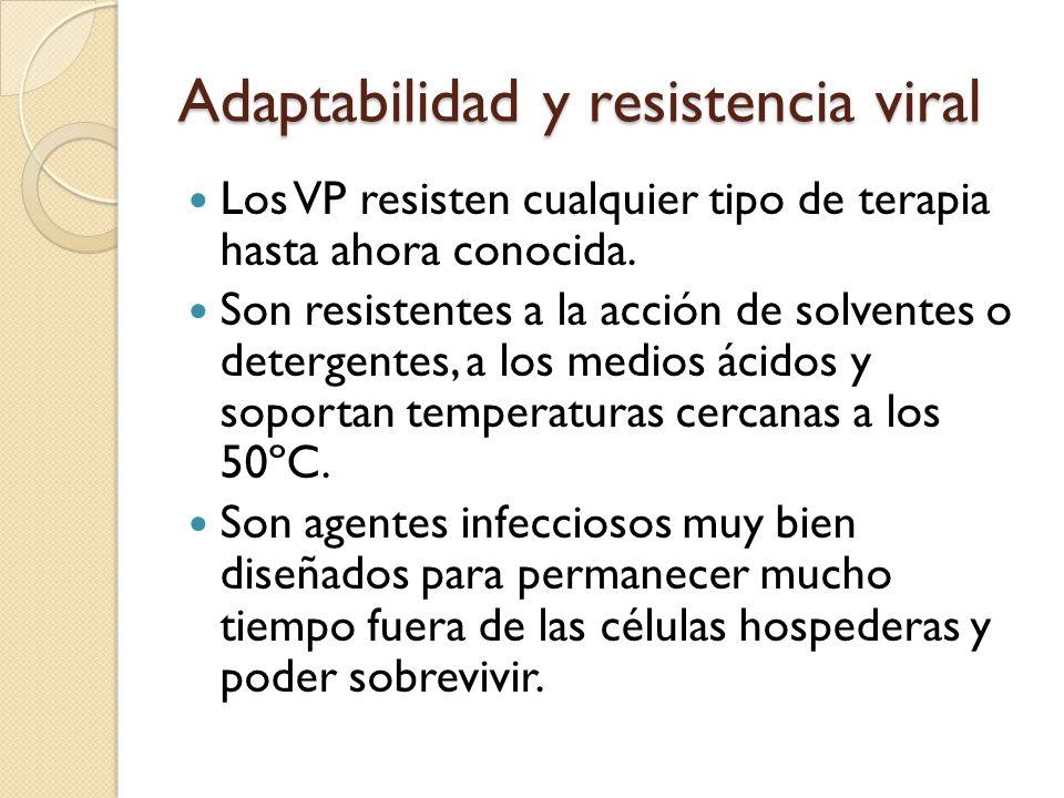 Adaptabilidad y resistencia viral