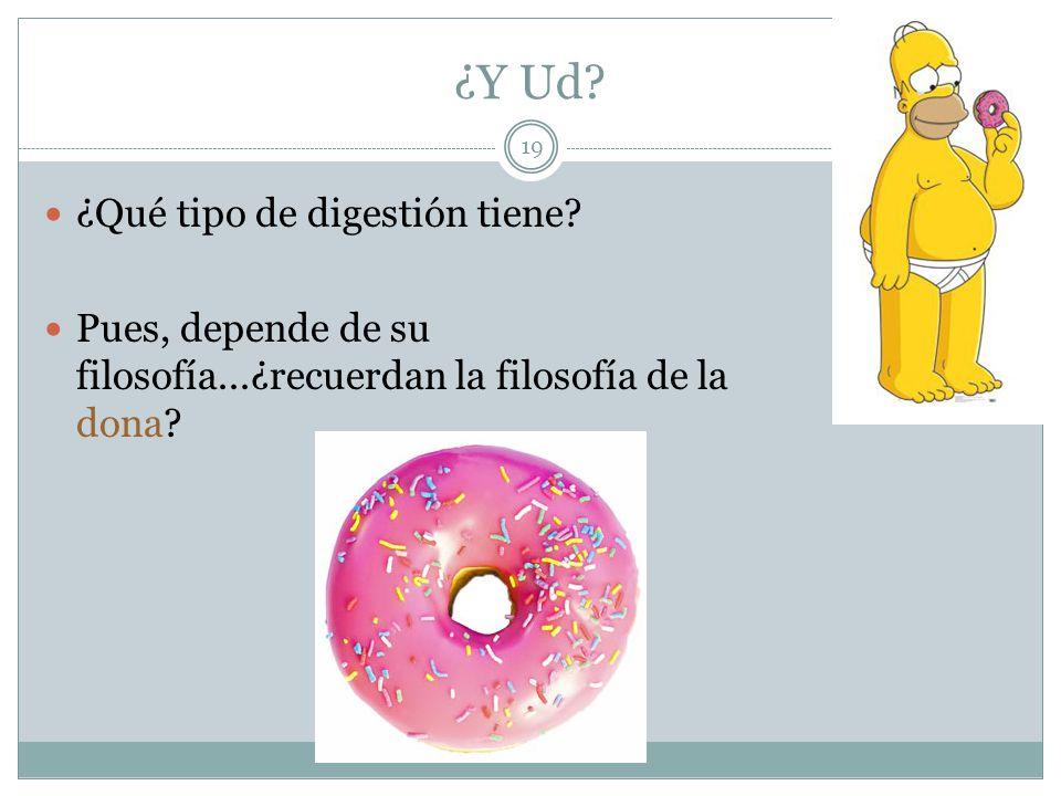 ¿Y Ud ¿Qué tipo de digestión tiene