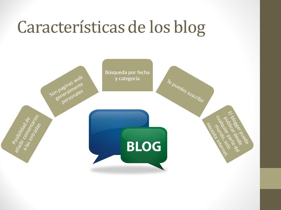 Características de los blog