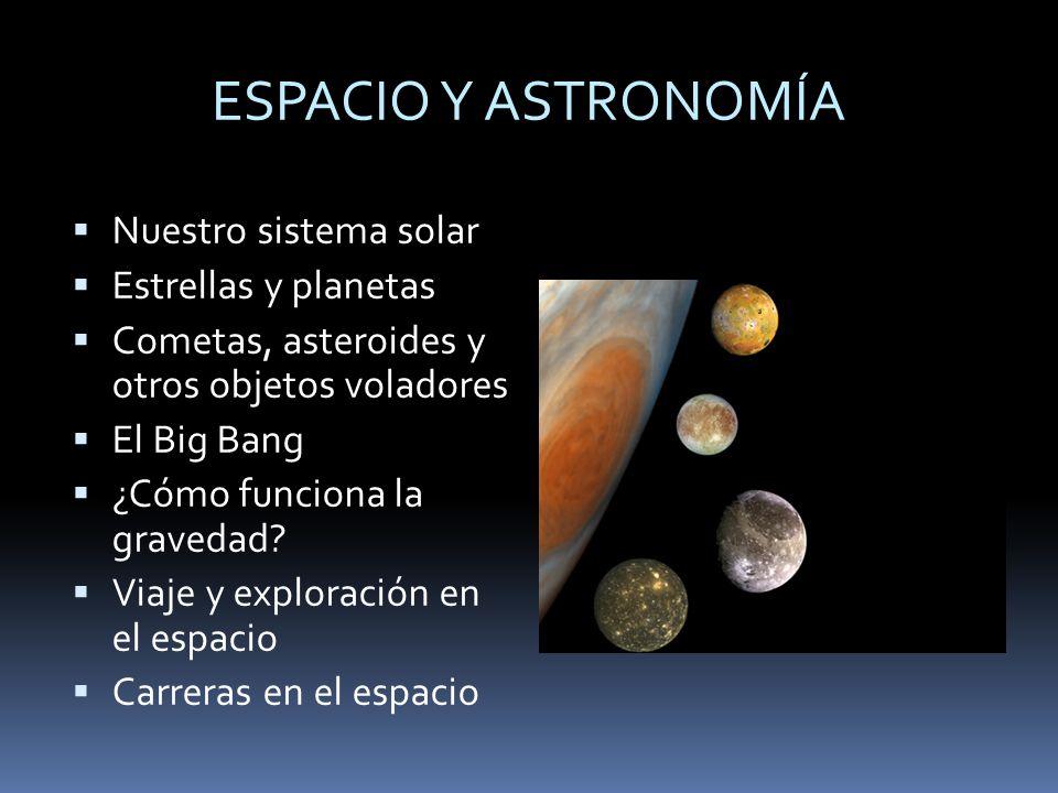 ESPACIO Y ASTRONOMÍA Nuestro sistema solar Estrellas y planetas
