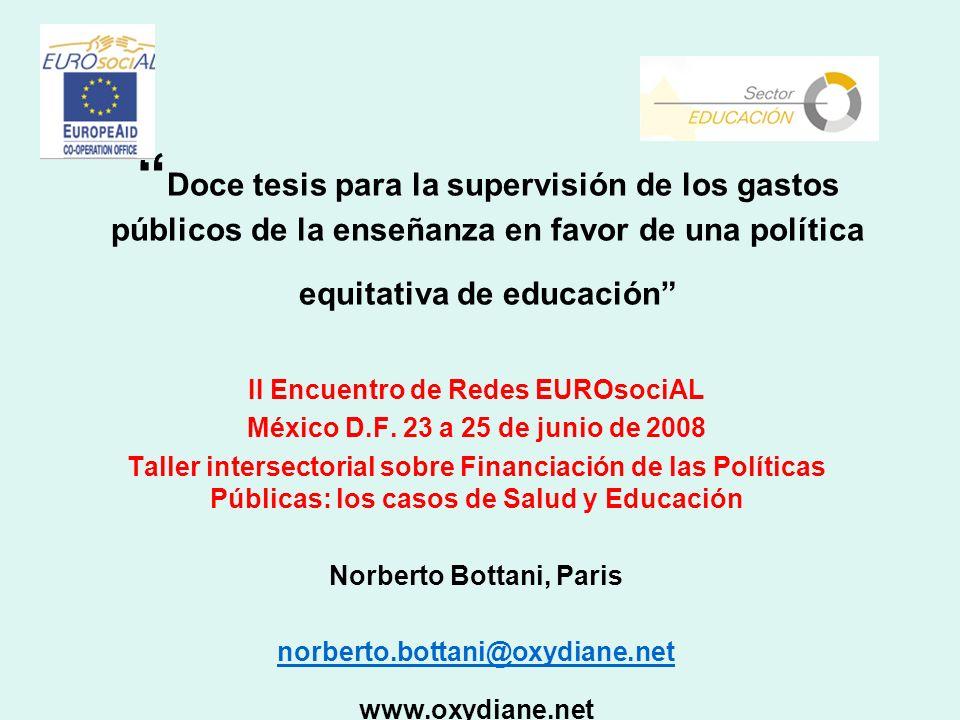 II Encuentro de Redes EUROsociAL Norberto Bottani, Paris