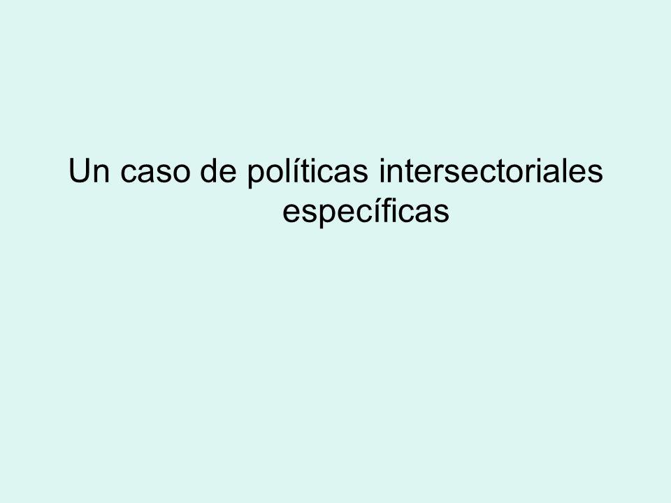 Un caso de políticas intersectoriales específicas