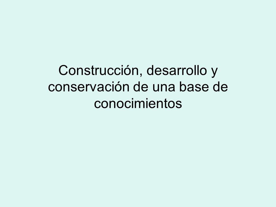Construcción, desarrollo y conservación de una base de conocimientos