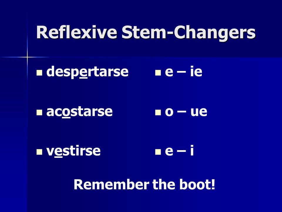 Reflexive Stem-Changers