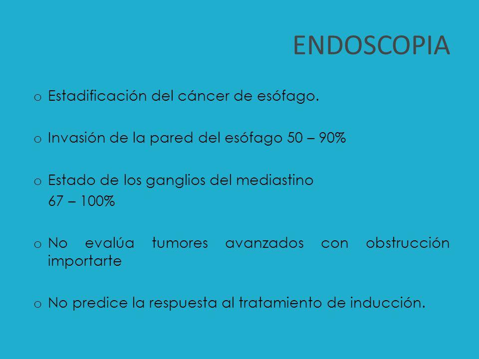 ENDOSCOPIA Estadificación del cáncer de esófago.