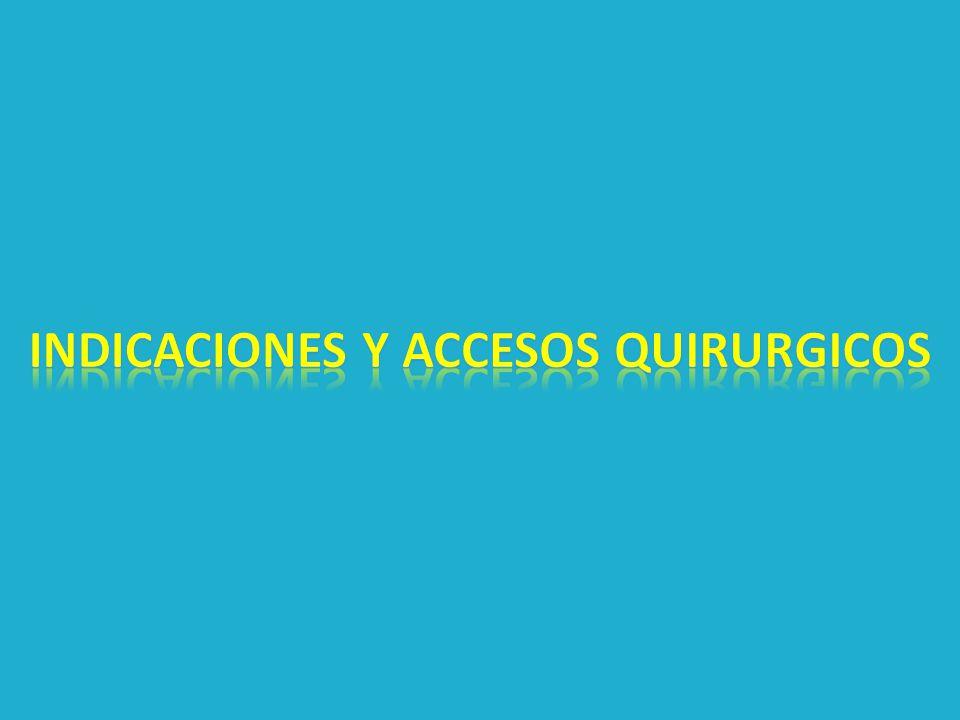 Indicaciones y accesos quirurgicos
