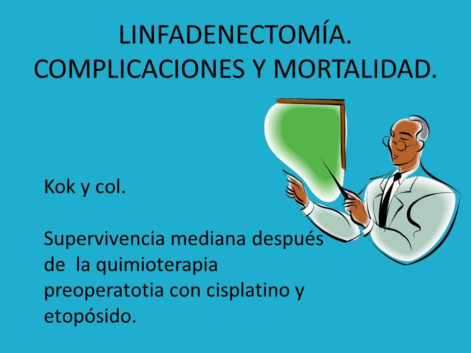 LINFADENECTOMÍA. COMPLICACIONES Y MORTALIDAD.
