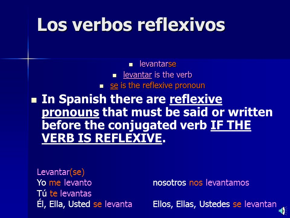 se is the reflexive pronoun