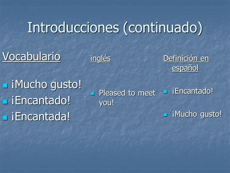 Introducciones (continuado)