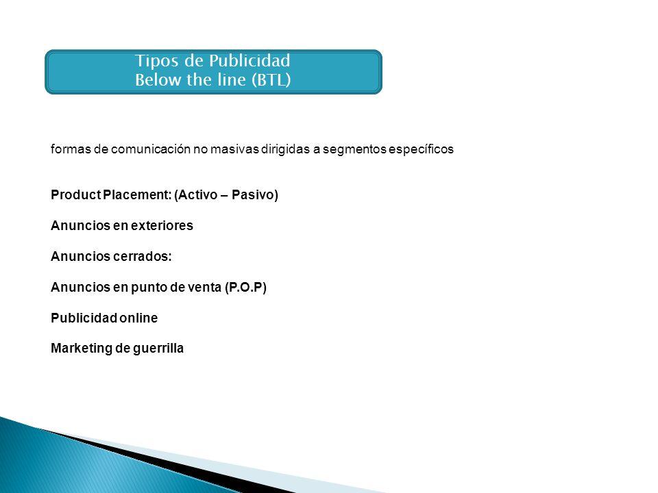 Tipos de Publicidad Below the line (BTL)