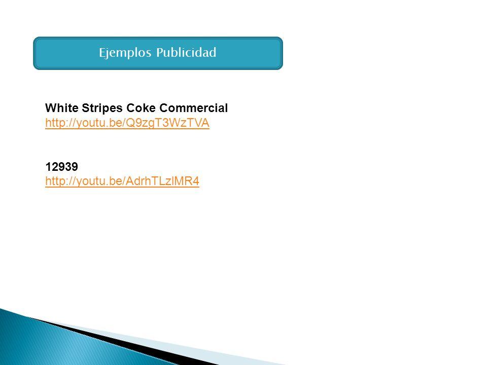 Ejemplos Publicidad White Stripes Coke Commercial.