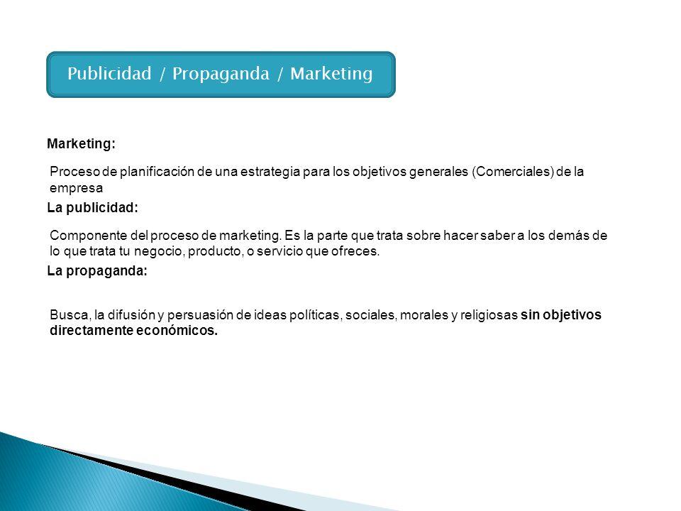 Publicidad / Propaganda / Marketing