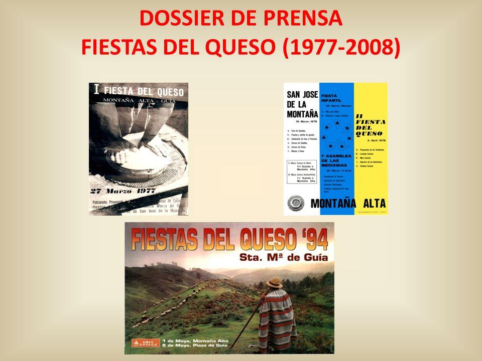 DOSSIER DE PRENSA FIESTAS DEL QUESO (1977-2008)