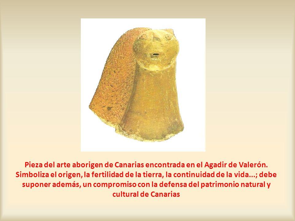 Pieza del arte aborigen de Canarias encontrada en el Agadir de Valerón