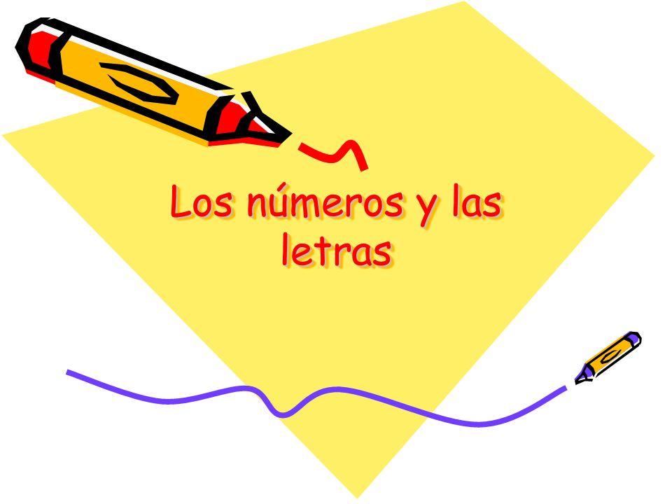 Los números y las letras