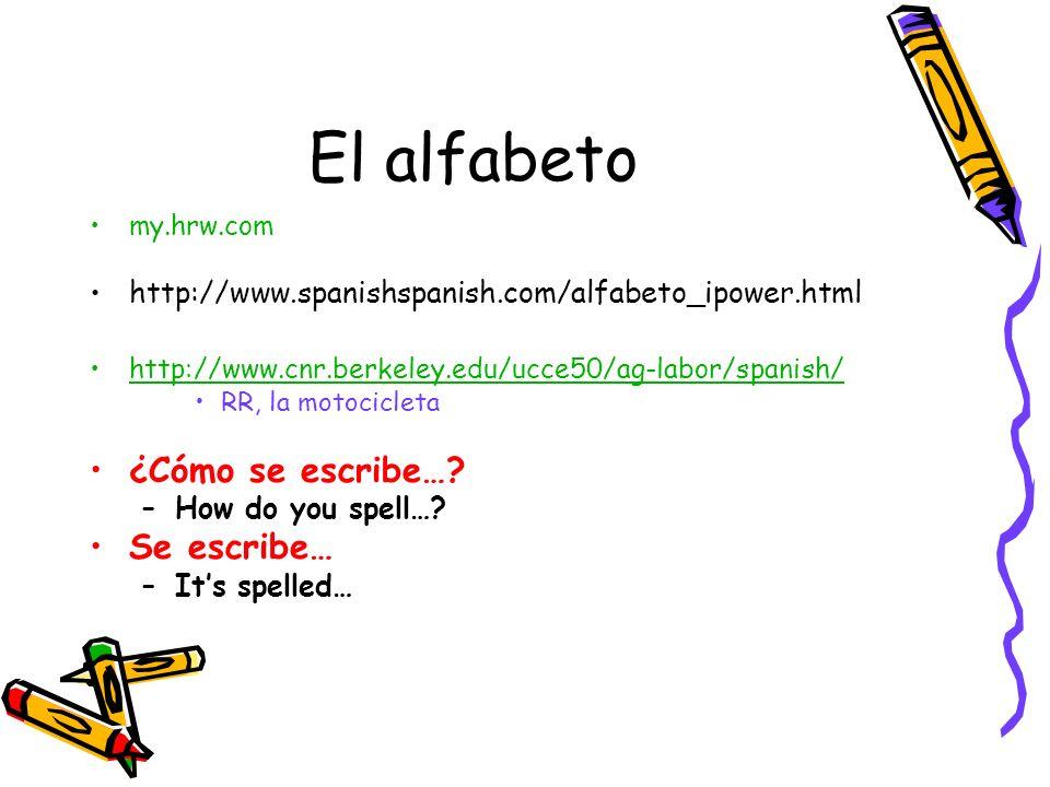 El alfabeto ¿Cómo se escribe… Se escribe…